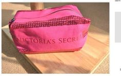 """VICTORIA'S SECRET SEQUIN COSMETIC makeup bag BEAUTY BAG by Victoria's Secret. $23.00. MAKEUP bag VS  The bag measures approximately 9"""" long and is made of a heavy canvas material with sequins.     COLOR: Pink    MATERIAL: Canvas"""