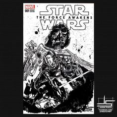 Darth Vader and Kylo Ren sketch cover done. Anyone still need holiday presents? Message me! #art #drawing #illustration #instaaart #instadraw #starwars #darthvader #kyloren #forceawakens #rogueone #comicart #sketchcover #comics #marvel #marvelcomics #meltyvader