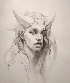 ArtStation - Mermaids and demons, Viktor Titov Demon Drawings, Art Drawings, Cool Sketches, Drawing Sketches, Sketching, Reference Manga, Academic Drawing, Sketch A Day, Character Drawing
