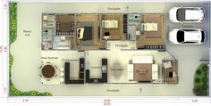 Home Decoration Shops Near Me Family House Plans, House Floor Plans, Casas Country, House Ideas, Autocad, Architecture, My Dream Home, My House, Home Goods