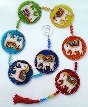 Móbile 7 elefantes