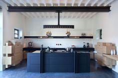 Château de la Resle: A New Design Hotel   Kitchen designed by Roderick Vos