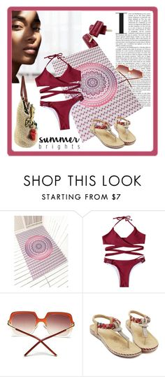 """Summer Brights"" by carola-corana ❤ liked on Polyvore featuring H&M"