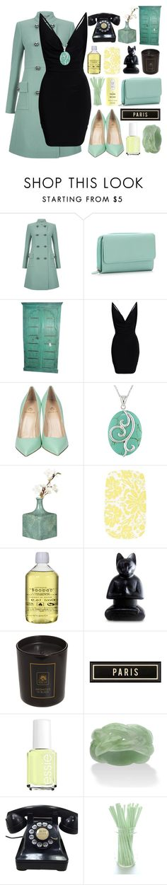 """""""Amina"""" by badwolfco ❤ liked on Polyvore featuring Hobbs, Semilla, Miadora, OKA, Baobab Collection, NOVICA, Clinique, Spicher and Company, Essie and Palm Beach Jewelry"""