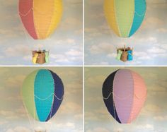Hot air balloon light shade mobile hanging by WhyDontWeGoSOWK