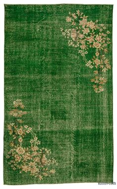 Green Turkish Vintage Area Rug x cm x 281 cm) Discount Area Rugs, Rainbow Room, Area Rugs For Sale, Patchwork Rugs, Wool Area Rugs, Hand Knotted Rugs, Rug Making, Vintage Rugs, Green