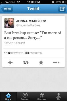 Jenna marbles break up excuse... Meanwhile she has a pic of herself with a dog in it