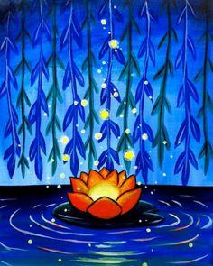 Paint Nite - Admin Panel » Unknown  Glowing Lotus Gabriel Nazareta