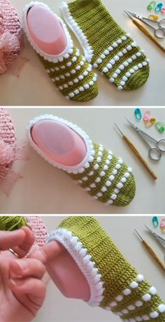 Getting Adorable Designs of Crochet For The Beginners to Knit Now - Diy Crafty Crochet Shoes Pattern, Shoe Pattern, Crochet Slippers, Crochet Home, Easy Crochet, Free Crochet, Knit Crochet, Knitting Patterns, Crochet Patterns
