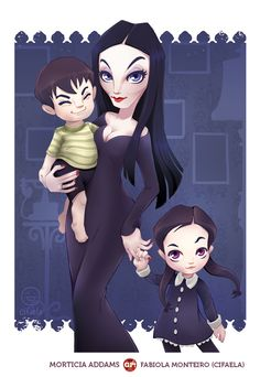 addams, addams family, and Morticia Addams image Addams Family, Drawing Illustrations, Whimsical Art, Gomez And Morticia, Family Art, Tim Burton Characters, Anime, Adams Family, Halloween Art