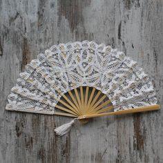 Abanico blanco novia Sharanda - COMPLEMENTOS - NOVIA | Una Boda Original