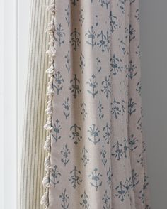 """312 Likes, 3 Comments - Susie Watson Designs (@susiewatsondesigns) on Instagram: """"Marine Blue Moonflower curtain with Sail Blue Dimity Stripe lining creates a timeless yet coastal…"""""""