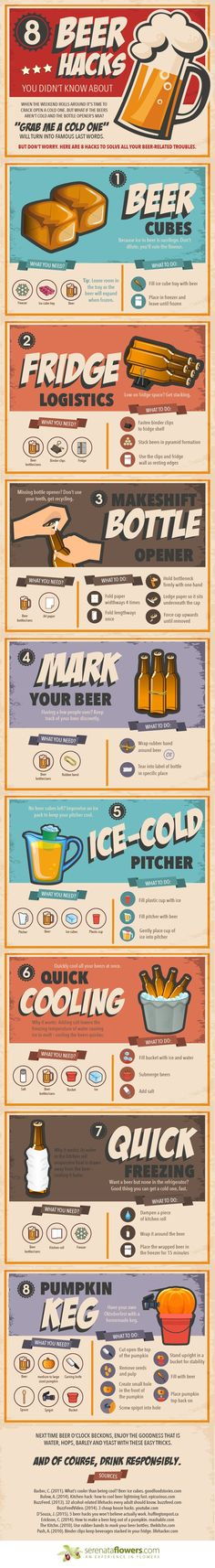 8 Fun Beer Hacks.