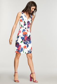 3a6e7ae83160af Floral Print Sandrine Mini Dress - MILLY   MILLY Trendy Fashion, Trendy  Outfits, Womens