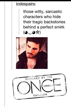 Hijacked by the Once Upon A Time fandom you just got Onced