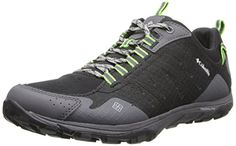 Columbia Men's Conspiracy Razor Trail Shoe,Black/Nuclear,8 D US -- Click image to review more details.