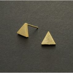 Gold Triangle Studs $6.95