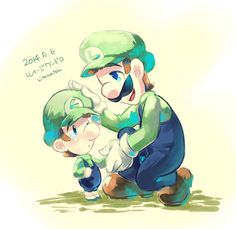 Luigi and baby Luigi