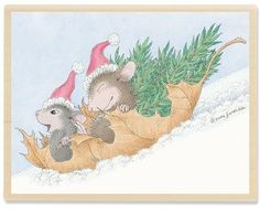 Image detail for -House Mouse Leaf-ing The Tree Farm Rubber Stamp