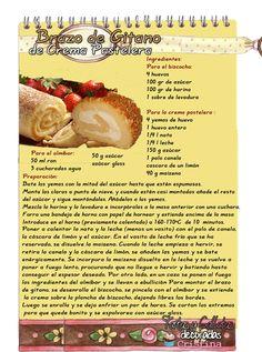 Tartas, Galletas Decoradas y Cupcakes: Brazo de Gitano de Crema Pastelera