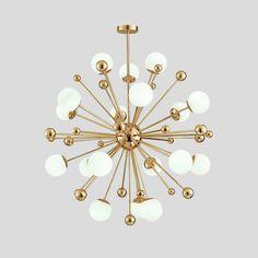 Post-modern Nordic Creative Dandelion Glass Ball Iron Led G9 Pendant Light For Dining Room Living Room Bar Shop Dia 60cm 1410 #Affiliate