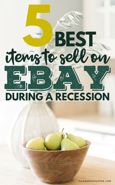 5 Best Items To Sell On eBay During A Recession | Successful Business - Did you know that flipping items for a living is a recession proof job that anyone can do? Click to learn how to get started flipping items to make extra money now! | Flea Market Flipper | Flipping Items On eBay | Profitable Business Ideas | eBay Selling Tips | Reselling Tips #flipping #thrifting #reselling #ebay #waystomakemoney #onlinejobs