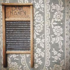 Vintage goodness in a Dubl Handi Washboard (www.thatgypsysoul.etsy.com). #americana #dublhandi #washboard #vintagedecor #vintagestyle #rustic