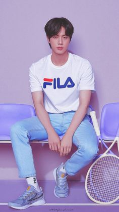 BTS x 'FILA' have prepared a very special new spring collection of clothing and accessories, the 'Vo Seokjin, Namjoon, Taehyung, Jimin, Bts Jin, Park Ji Min, K Pop, Bts Group Photos, Worldwide Handsome