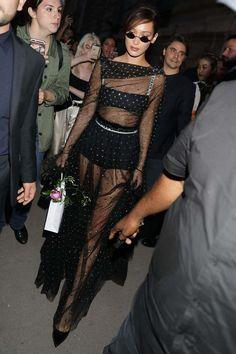 Bella Hadid Leaving Dior 70th Anniversary Exhibition Party In Paris
