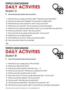 Daily Activities, English, Learning English, Vocabulary, ESL, English Phrases, http://www.allthingstopics.com/daily-activities.html