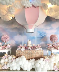 Pin By Zahra Nourani On Home Decor In 2019 Welcome Baby Party - Baby Products Deco Baby Shower, Baby Girl Shower Themes, Baby Shower Balloons, Shower Party, Baby Shower Parties, Shower Games, Baby Showers, Balloon Birthday Themes, Birthday Party Decorations