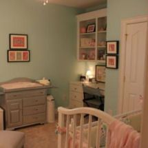 very calming room for baby girl