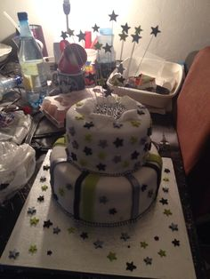 Two tier birthday cake by lucie