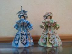 Origami dolls in the waiting room of a hospital on the Girls Day, March 3.