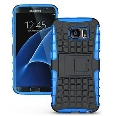 Samsung Galaxy S7 TPU Slim Rugged Hybrid Stand Case Cover Blue