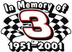 dale earnhardt in loving memory #3 car auto bumper sticker decal made in usa
