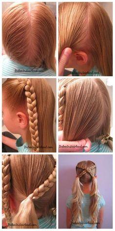 13 Tutos de coiffures faciles pour petites filles
