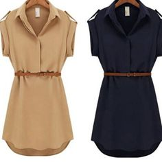 Womens dress summer 2015 Short A-Line solid Plus Size chiffon casual dresses with belt for Party Beach Office summer style   http://www.dealofthedaytips.com/products/womens-dress-summer-2015-short-a-line-solid-plus-size-chiffon-casual-dresses-with-belt-for-party-beach-office-summer-style/