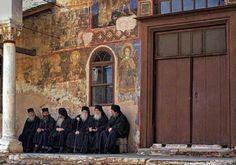 Monks from Great Lavra Monastery, Mount Athos Medieval Castle, Thessaloniki, 14th Century, Christianity, Art, Spiritual Awakening, Bing Images, Catholic, Cyprus
