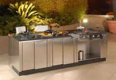Basic Kitchen Area Concepts For Inside or Outside Kitchen areas – Outdoor Kitchen Designs Prefab Outdoor Kitchen, Outdoor Kitchen Kits, Outdoor Grill, Modular Outdoor Kitchens, Kitchen Modular, Outdoor Kitchen Countertops, Basic Kitchen, Outdoor Kitchen Design, Kitchen Ideas
