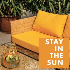 Check out the new range of outdoor furniture by IDUS. This beautiful yellow sofa will give a completely fresh summer vibe to your outdoor space and motivate you to spend more time soaking the sun! Ditch the conventional colours and designs, and go for what makes you happy with IDUS :) Check our Instagram page for more summer outdoor furniture and follow us for updates ! Garden Furniture Design, Outdoor Garden Furniture, Outdoor Decor, What Makes You Happy, Are You Happy, Yellow Sofa, Summer Vibes, Range, Colours