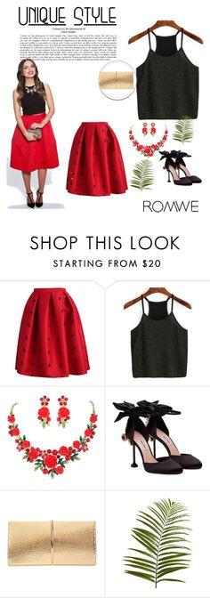 """""""Romwe"""" by zerina-okanovic ❤ liked on Polyvore featuring Miu Miu, Nina Ricci, Pier 1 Imports and romwe"""
