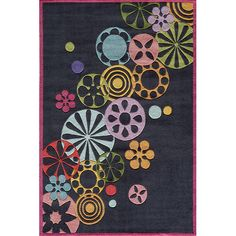 Found it at Wayfair - Hipster Black Area Rug
