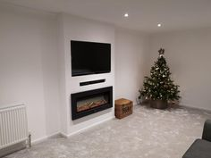 Newest Screen Electric Fireplace remodel Thoughts False chimney breast with TV, soundbar and Dimplex Electric Fire Living Room Decor Fireplace, Fireplace Tv Wall, Fireplace Remodel, Living Room Tv, Fireplace Design, Interior Design Living Room, Living Room Designs, Chimney Decor, Chimney Breast