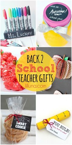 A Roundup of Back 2 School Teacher Gifts on { lilluna.com }