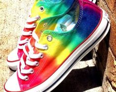 Custom Made Tie Dye Converse shoes