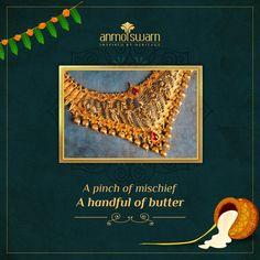 Gold Jewellery Design, Gold Jewelry, Contemporary Wedding Jewellery, Krishna Janmashtami, Temple Jewellery, Wholesale Jewelry, Indian Jewelry, Gold Jewellery, Gold Bridal Jewellery
