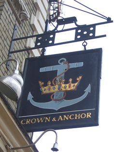 The Crown & Anchor - Pub Sign