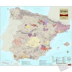Wine Map of Spain #WineEnthusiast