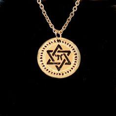 Hebrew jewelry chai jewelry Star of David Gold by KelkaJewelry, $52.00